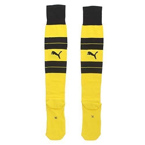 PUMA Erwachsene BVB Hooped Socks Stutzen, cyber yellow-Black, 5