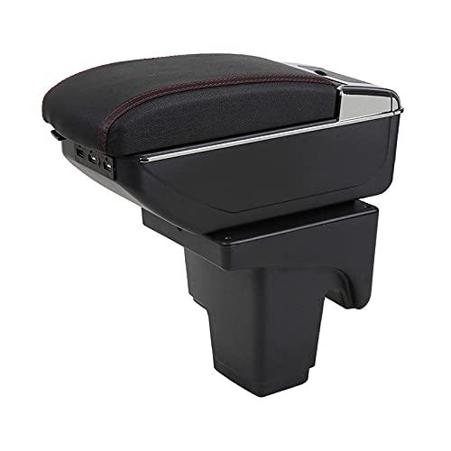 Rtyuiop Caja del apoyabrazos, para la Caja de Almacenamiento del Coche de la Caja del apoyabrazos de Ford Focus 3 2013