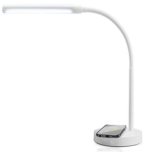 Monzana - Lampada da scrivania a LED, ricarica rapida, induttiva, senza fili, QI, flessibile, dimmerabile, touch