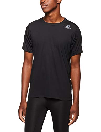 adidas Herren Freelift Fit Climalite Kurzarm T-Shirt, Black, S