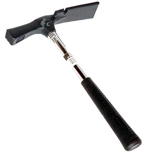 Maurerhammer 600 g Berliner Form Stahlrohr geraut Hammer