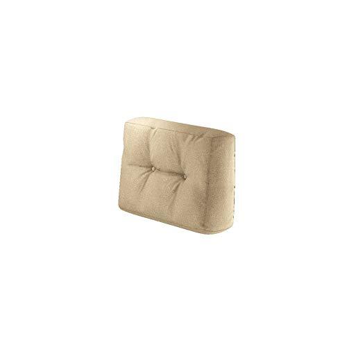 Vicco Farbvielfalt Palettensofa Palettenpolster Kissen Sofa Couch Polster Indoor Outdoor (Seitenkissen, Beige)