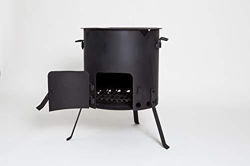 Kazan Oven Stove Wood Fire for Qazon Cauldron Duch Oven Pilaf Plov Lagman Shurpa 41cm Diameter (Fits 12L to 16L Kazans)