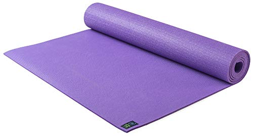 Jade Yoga- Level One Yoga Mat - Sustainable Yoga Mat for A Secure Grip to Help Hold Your Pose (Classic Purple, 68')