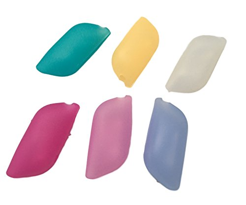6 Stück SILIKON Zahnbürsten Kopf Hüllen / Aufbewahrungshüllen / Reiseetui /Zahnbürsten Schutz auf Reisen & Urlaub aus Silikon robust & hygienisch – auch für elektrische Zahnbürsten
