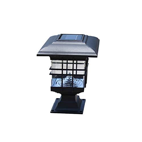 Osaladi luces de pilar solares para exteriores, iluminación de paisaje para césped patio camino de entrada