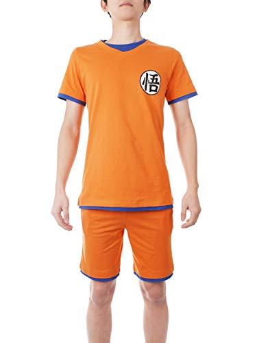 CoolChange Pijama de Dragon Ball, Pijama de Verano de Son Goku, Talla: L