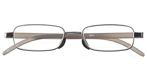 ULTRA Flat READER 超 薄型 軽量 老眼鏡 (専用スリムケース付き) メンズ ガンメタ +3.00 5621-30