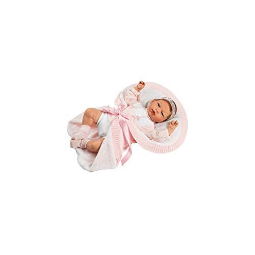 Munecas Guca 10066Reborn Ainoa Baby Puppe in den Speziellen Kostüm und mantita, 46cm