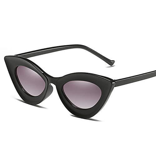 Gafas De Sol Hombre Mujeres Ciclismo Gafas De Sol Vintage para Mujer, Lentes De Gradiente De Moda, Gafas De Sol para Mujer, Bright_Black_Gray