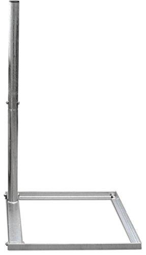 Satix Sat Balkonständer für Satelliten-Schüssel aus Stahl für Beton-Platte 50 x 50 cm