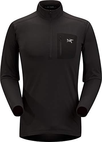 Arc'teryx Rho LT Zip Neck Men's (Black, Small)