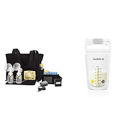 Medela Pump in Style Advanced Breast Pump with Tote and 100 Count Breast Milk Storage Bags, Electric Breastpump for Double Pumping, Ready to Use Breastmilk Bags for Breastfeeding