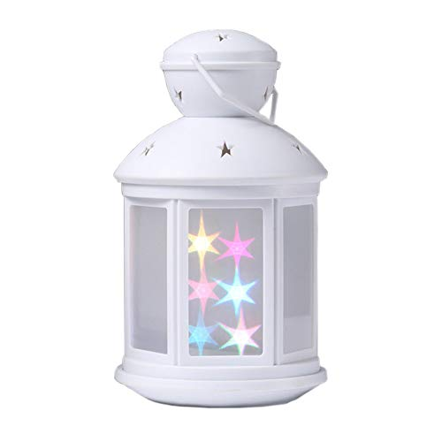 3D Star Lantern Night Light,AVEKI LED Star Sky Magical Table Lamp Battery Operated Smart Twinkling Star Effect Bedside Table Lamp for Kids Bedroom Living Home Camping Indoor Outdoor (Star Night Light)