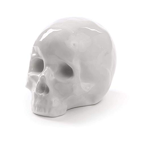 SELETTI – My crâne Souvenirs, Porcelaine, Blanc, 25 x 25 x 14 x 15 cm