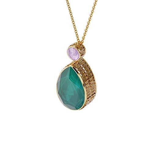Swarovski Collar Orbita, Cristal con talla de pera, Multicolor, Baño tono oro