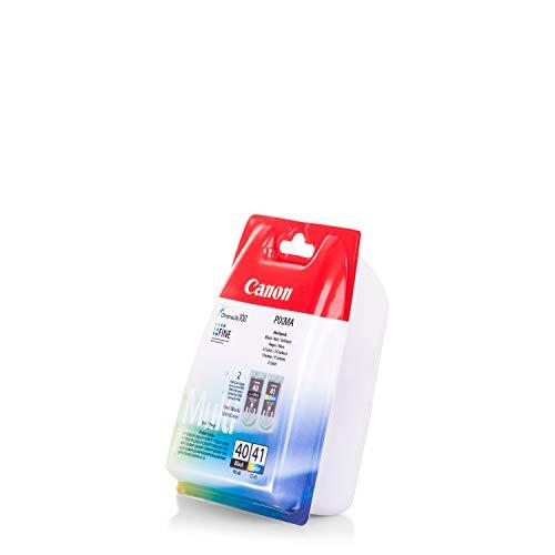Original Tinte passend für Canon Pixma MP 210 Canon PG-40 CL 41 0615B036-2x Premium Drucker-Patrone - Schwarz, Cyan, Magenta, Gelb - 1 x 16 ml & 1 x 12 ml
