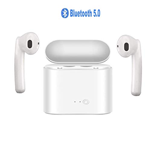 Wireless Earbuds, Bluetooth 5.0 with Charging Case Stereo Sound Sports Bluetooth Earbuds with Microphone