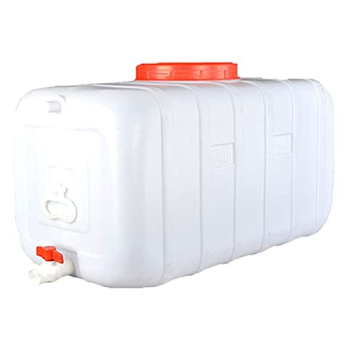 Envase De Almacenamiento De Agua De Plástico Cubo Portátil Hogar Grande Agrícola Agrícola Barriles Industriales Tap Agua Pure Agua Almacenamiento Cubo De Almacenamiento Al Aire Libre Camping(Size:50L)