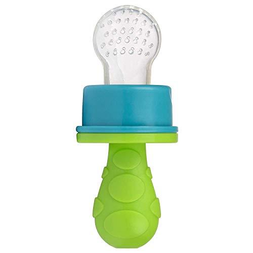 primamma Fruchtsauger für Babys und Kleinkinder, Obstsauger mit weichem und hygienischen Silikonteil, Sauger für Obst und Gemüse, ab 8 Monaten, grün