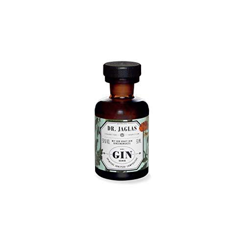 Dr. Jaglas Gin Seng | Wacholderbeer-Spiritus als Einzelflasche mit 50 ml | 50% Vol