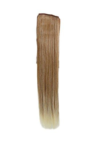 Postiche, queue étroite, queue de côté, Cosplay, mix de blond clair cuivré, lisse, 18\