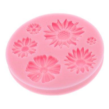WYFC bicarbonate de bricolage biscuit style de chrysanthème 3d biscuit moule (couleur aléatoire)