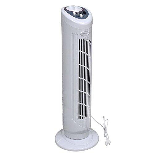 vidaXL Ventilatore a Torre Oscillante Bianco