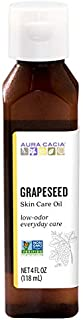 Aura Cacia Grapeseed Skin Care Oil | GC/MS Tested for Purity | 118ml (4 fl. oz.)