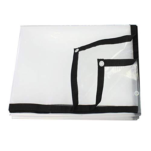 MFASD Tarps Heavy Duty zeilen met versterkte ogen, transparante afdekking, scheurvast, kunststof folie voor dak/tuin/zwembad/terras
