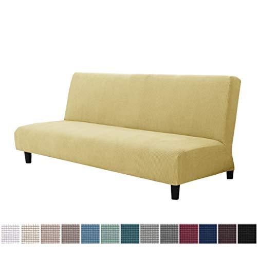 WINS Funda de sofá Cama Clic clac 3 plazas elástica Fundas sofá sin Brazos Funda de sofá Cama Plegable Todo Incluido Cubierta de sofá futón