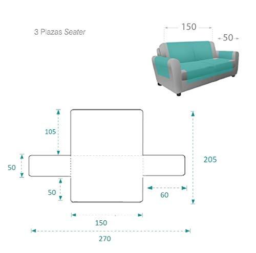 textil-home Salvadivano Trapuntato Copridivano Adele 3 posti Reversibile. Colore Grey