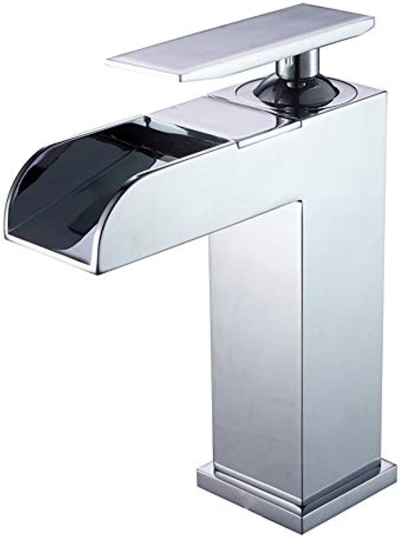 T-TLJW Schwarz Retro Wasserhahn Badezimmer Küche water-tap Kupfer Chrom Wasserfall Waschbecken Wasserhahn einzigen Loch heien und kalten Waschbecken Wasserhahn Waschbecken Wasserhahn, A