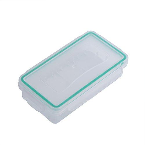 GLOGLOW 1 stuks batterij-bewaarkoffer hardslijtvaste kunststof opbergdoos waterdichte batterijen organiseren box voor 18650 batterij