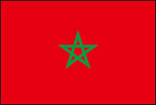 Durobol Bandera de Marruecos 150 x 90 cm Satén Morocco Flag +Regalo una pegatina