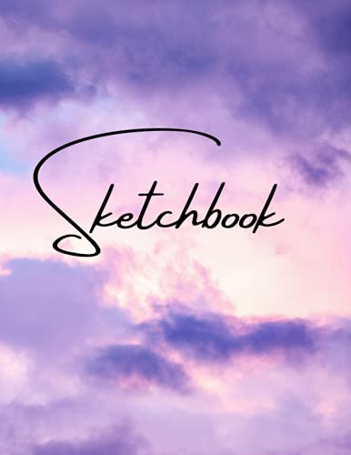 Sketchbook For Purple Sky: Best blank white pages with Purple Sky cover for painting, drawing, writing and sketching wide papers 8.5 x 11, 100 Pages, ... and girlfriend (Best Blank Sketchbooks Ever)