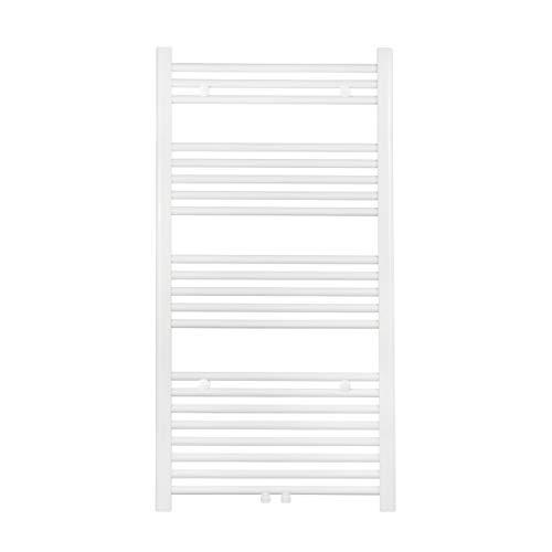 VILSTEIN Badheizkörper, Horizontal, Weiß, Seitenanschluss und Mittelanschluss, 1150x600 mm