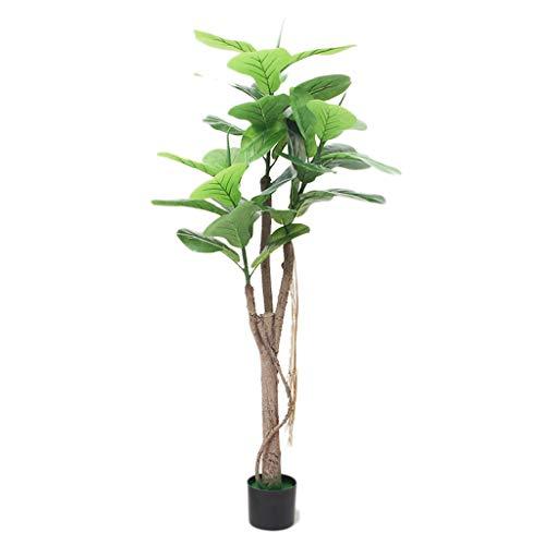 BOWCORE Falso simulación de Banyan Tree violín Hoja 150cm nórdicos Grandes Plantas de Interior Planta Verde Pot Artificial Verde en Ollas árboles Decorativos for hogar y Oficina