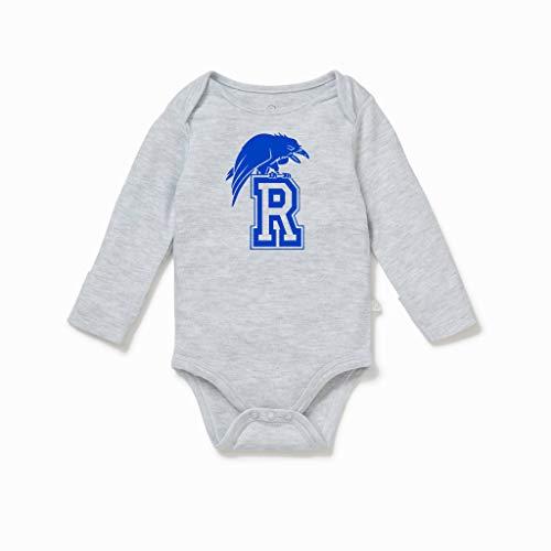 Tree Hill Ravens Body de manga comprida para bebês meninas e meninos, Cinza, 6 meses
