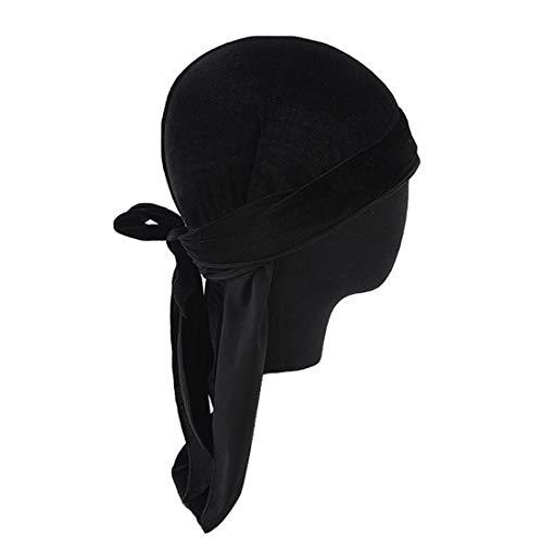 Puimentiua Pañuelo Cabeza Bufanda Sombrero Pirata Terciopelo para Hombre/Mujer Gorro del Aire Libre