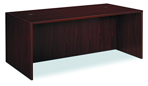 HON BL Laminate Series Office Desk Shell - Rectangular Desk Shell, 72w x 36d x 29h, Mahogany (HBL2101)