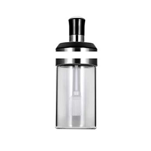 Deykhang 250ml Integrated Spice Stainless Steel Bottles Oil Brush Honey Bar Lid Seal Seasoning Moistureproof Spoon Jars C