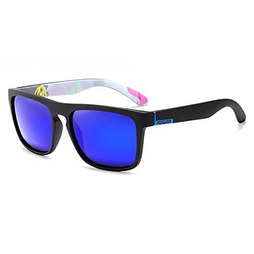 Amethyst Gafas de Sol polarizadas Gafas de Sol para Hombres/Mujeres, Protección Anti UV Ray Es Adecuado para compradores, conducción, Playa, Fiesta, Deportes y Otras Actividades al Aire Libre,Azul