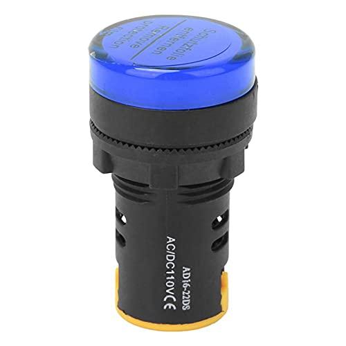 Emoshayoga Indicador AD16-22D / S ignífugo de 22 mm PC LED para indicación de señal para Sistema de Alarma(Blue)