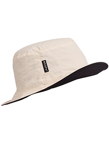 Stöhr Erwachsene Reversible Hat Hut, Sand/Schwarz, L/XL