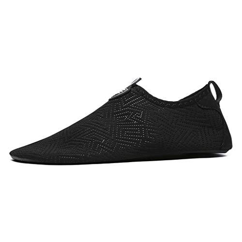 GDSSX Zapatillas de Agua Zapatos de Buceo de Playa Zapatos de Yoga para Mujer Zapatos de Yoga para Mujer Soft Soft Slip de los Hombres Secado Rápido (Color : Black, Size : 41-42EU)
