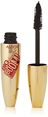 Astor Big & Beautifull Boom! Curved Mascara, 910 Ultra Black (schwarz), Volumen und Schwung, 1er...