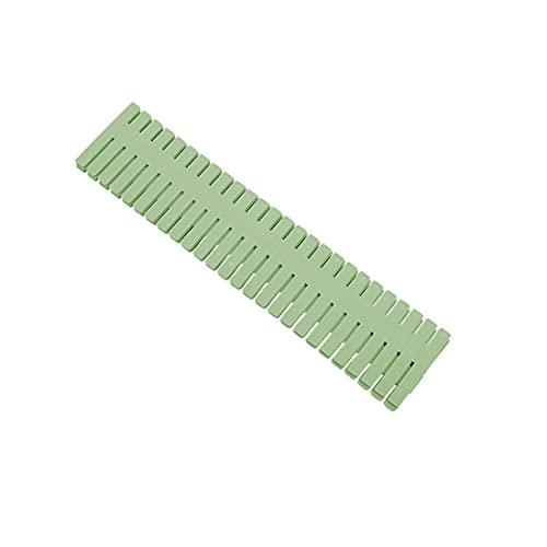 24 separadores de cajón de rejilla ajustable, organizador de cajones de plástico cortado a medida para cualquier forma de ranura para suministros de oficina en el hogar (32 x 7 cm), color verde