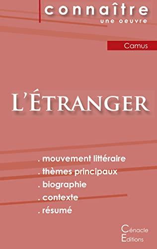 Fiche de lecture L'Étranger de Albert Camus (analyse littéraire de référence et résumé complet)