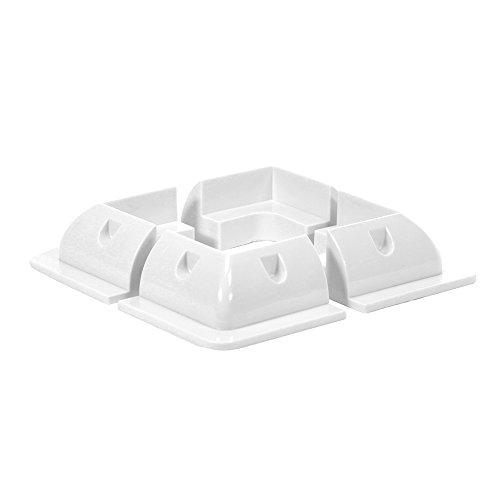 Offgridtec ABS Perfil de esquina (Set Light Duty Color Blanco 150x 150mm, 1pieza, 006530